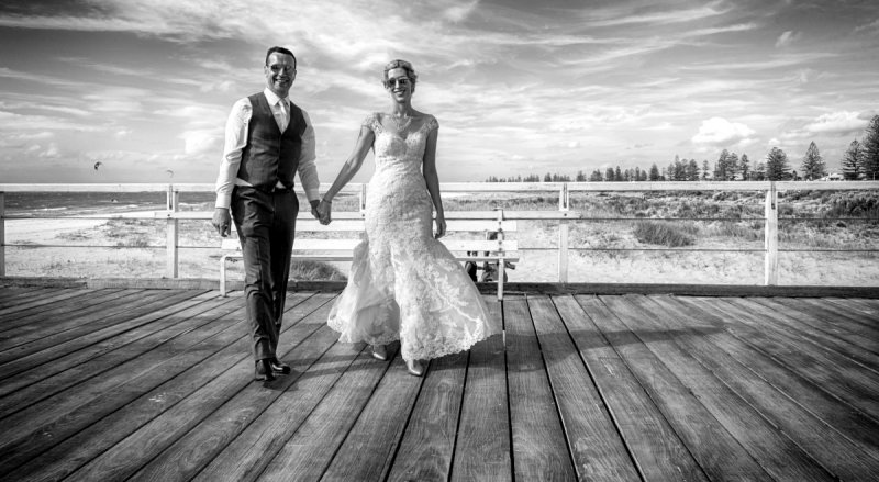 Wedding Photography Album | Adelaide South Australia | Largs Jetty
